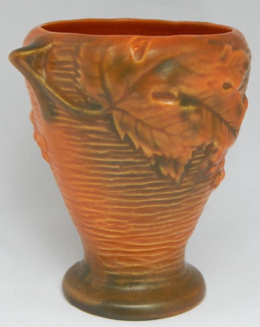 Vintage Roseville Art Pottery Vase, Signed - 3