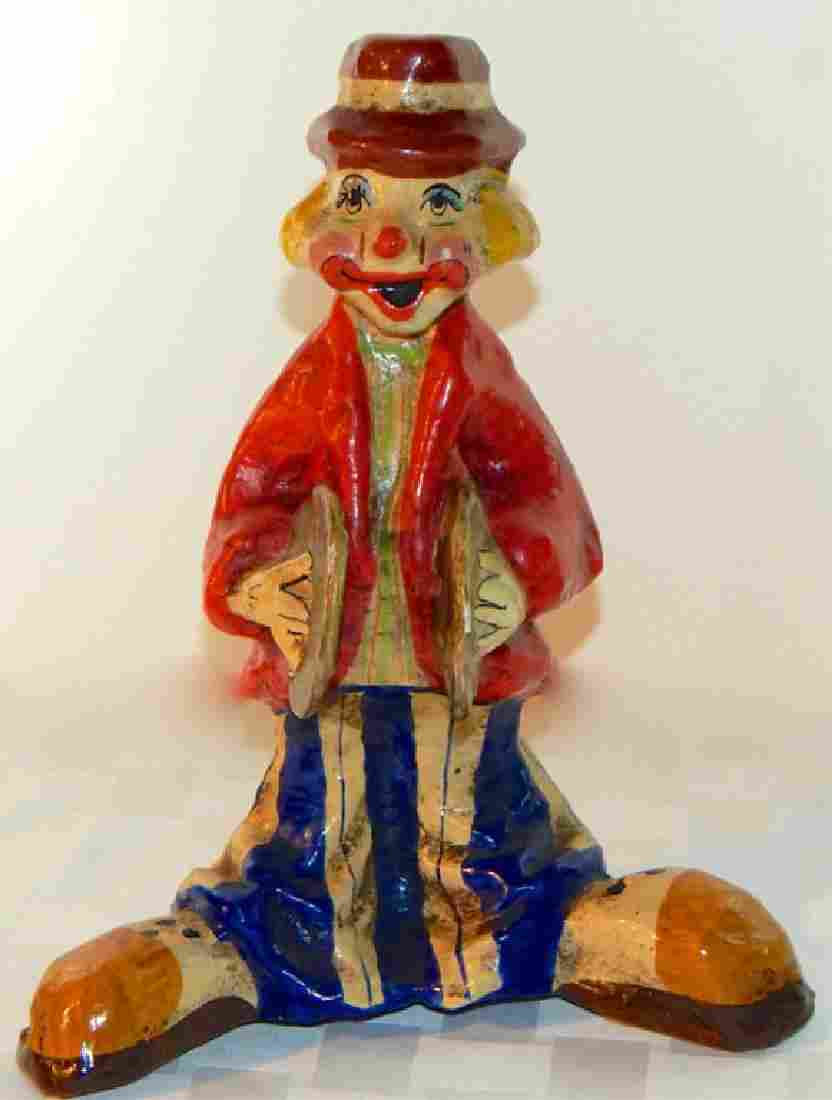 Hand Made Paper Mache Clown