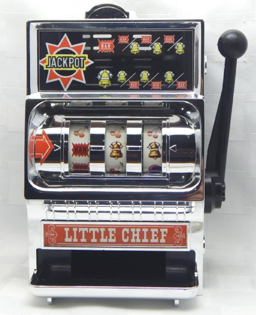 Vintage Little Chief Bank Slot Machine in Box
