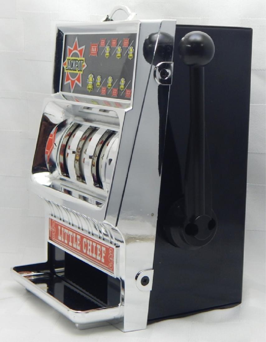 Vintage Little Chief Bank Slot Machine in Box - 3