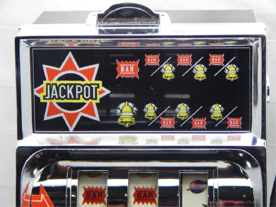 Vintage Little Chief Bank Slot Machine in Box - 7