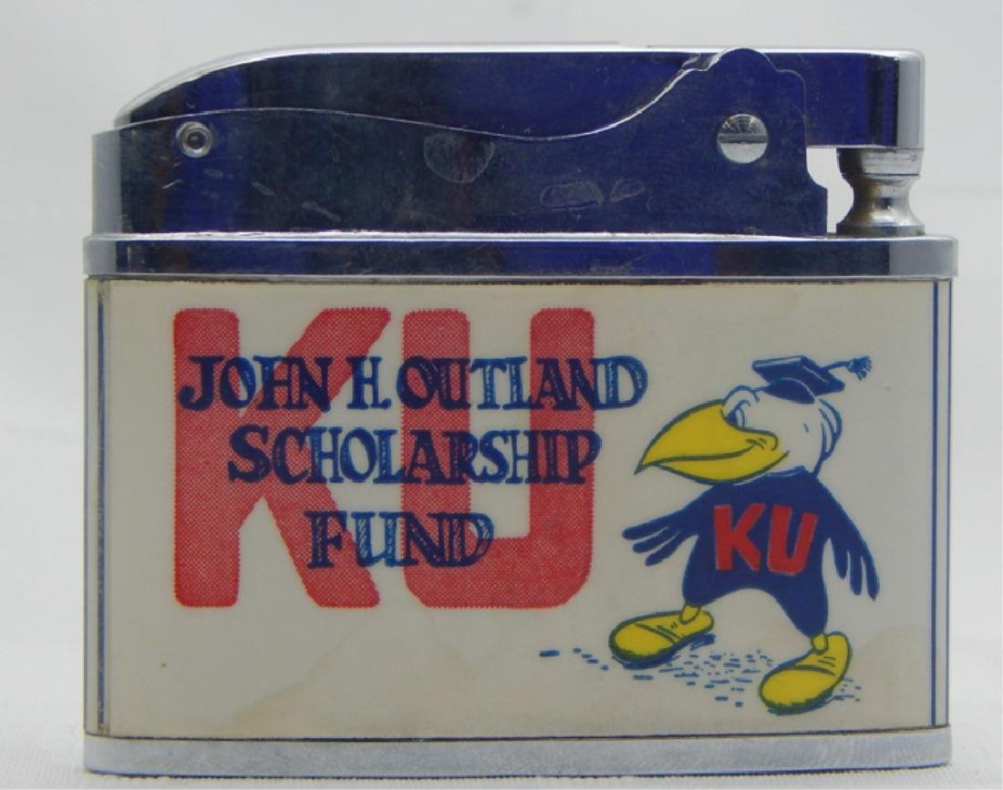 Vintage Kansas University Jayhawk Football Lighter