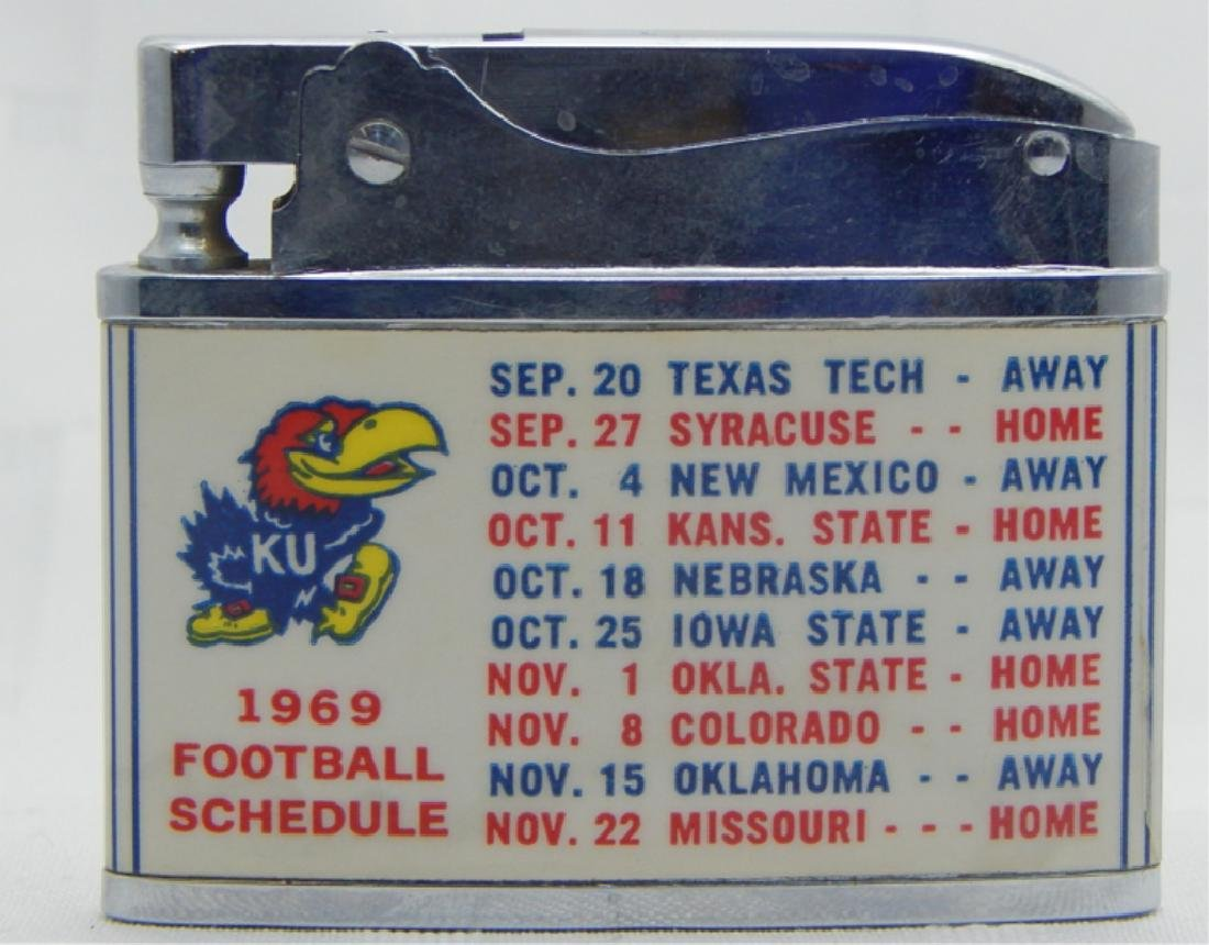 Vintage Kansas University Jayhawk Football Lighter - 2
