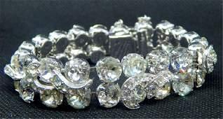 Vintage Eisenberg Rhinestones Bracelet