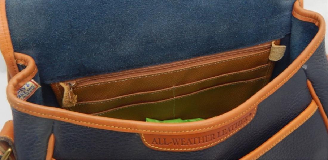 Dooney & Burke Navy and Tan Leather Handbag - 4