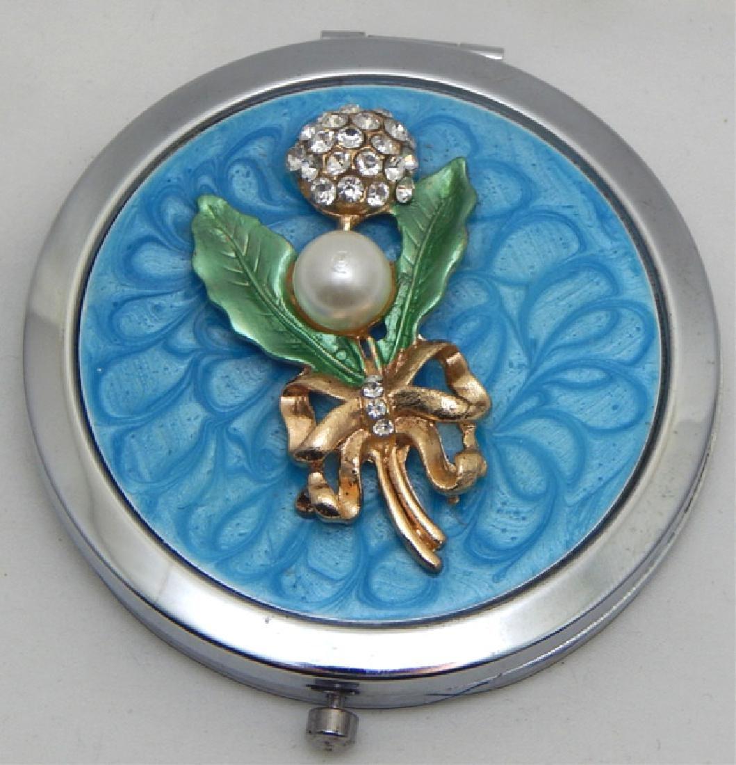 Jeweled Enamel Mirror Compact