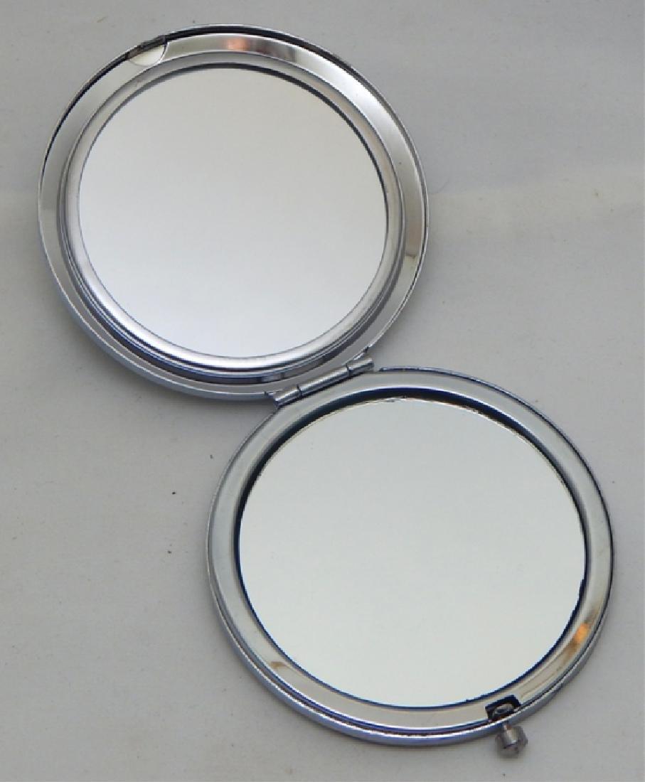 Jeweled Enamel Mirror Compact - 2
