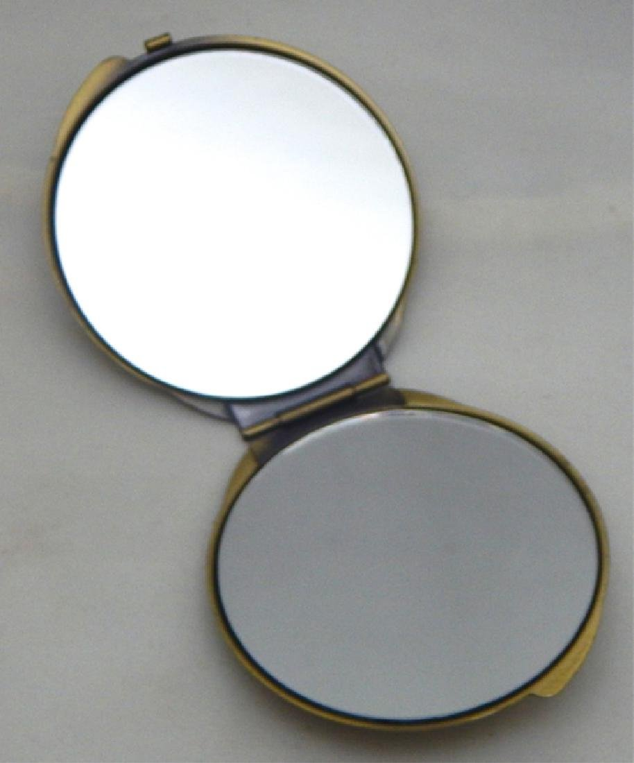 Jeweled Enamel Cameo Mirror Compact - 2