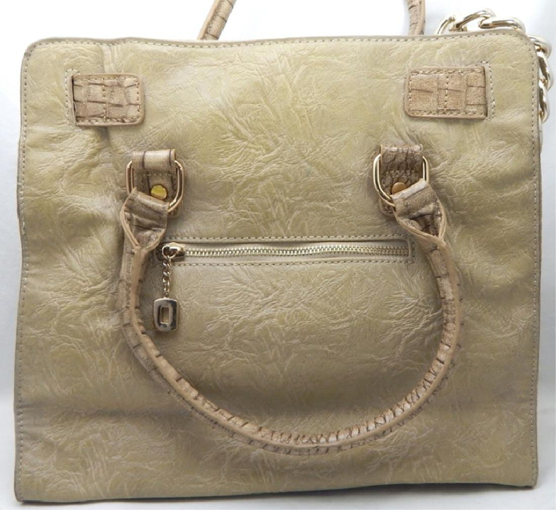 Tan Leather with Gold Lock and Accents Handbag - 2