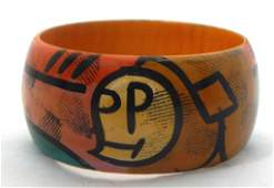Hand Painted in Picasso Style Bangle, c1960