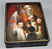 Large Vintage Russian Lacquer Box