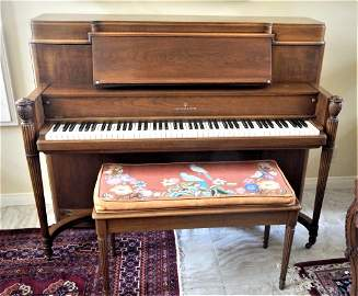 Rare Walnut Steinway Piano with Bench
