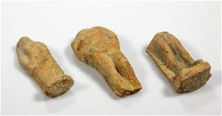 An Ancient Greece terracotta fragment torsos grouping