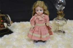 """5"""" Unmarked Antique All Bisque Doll"""