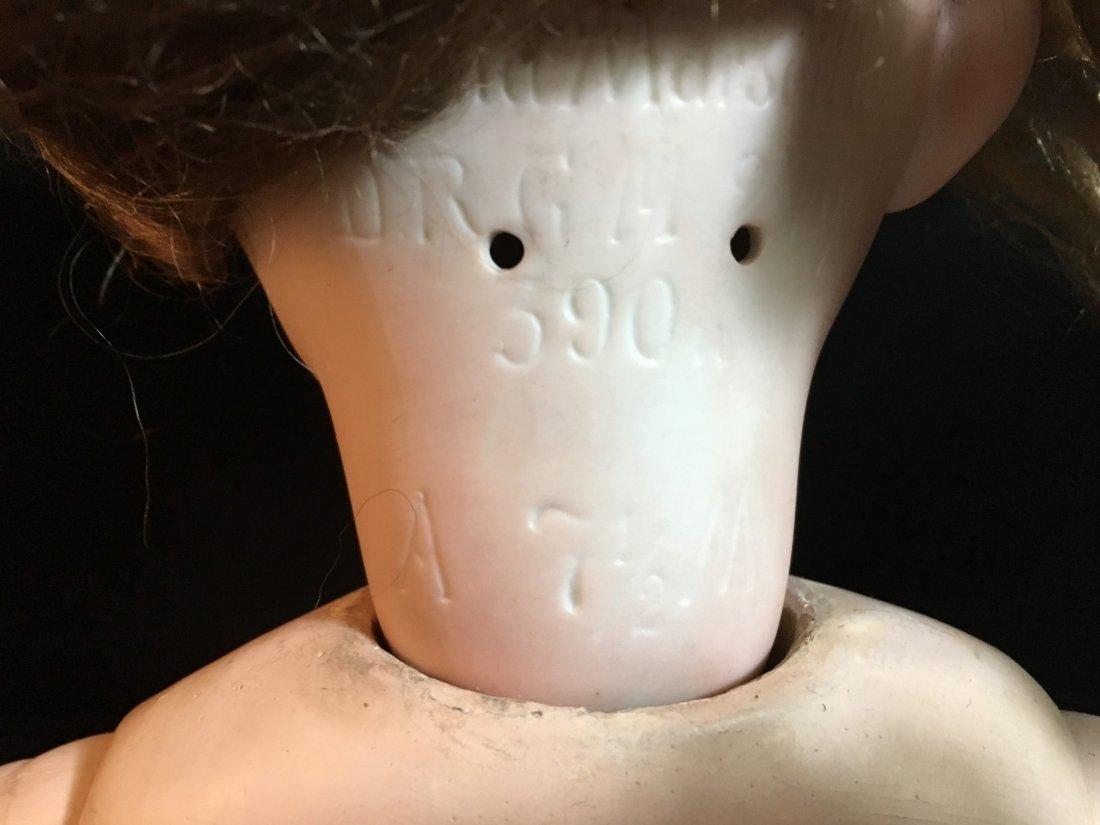 Antique Bisque Head AM Doll - 4