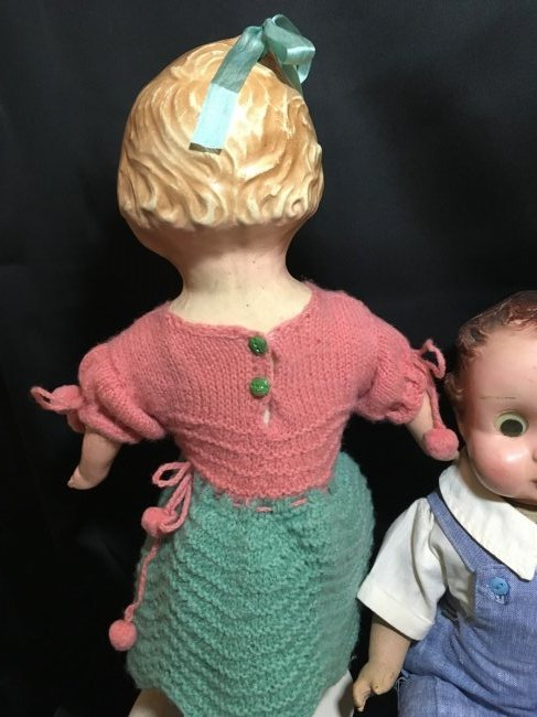 Lot of 2  Composition Head/Cloth Bodied  Dolls - 4