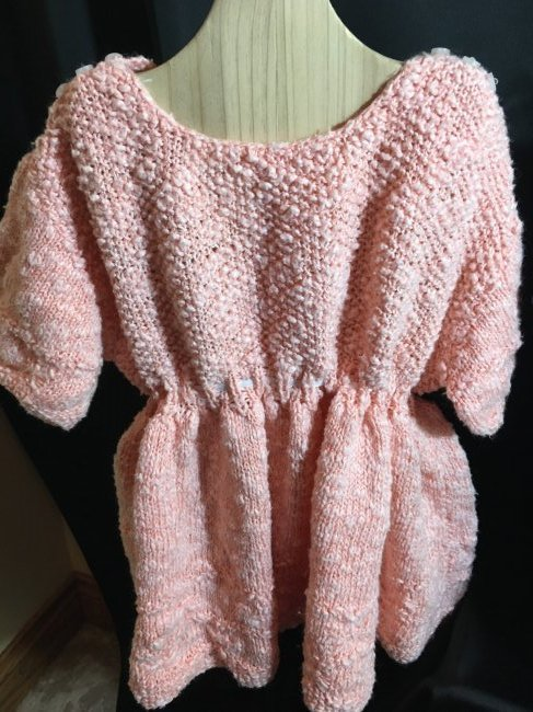 Lot of 3 Vintage Hand Knit/Crocheted Doll Dresses - 5
