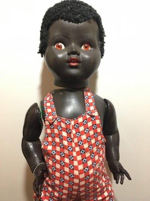 Unique 1950's Black Saucy Walker by Palitoy - 2