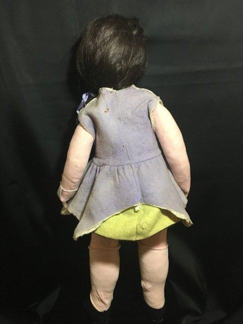 """25"""" Vintage Italian Doll w Vintage 6"""" Lenci Doll - 3"""