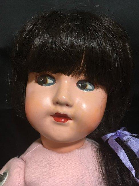 """25"""" Vintage Italian Doll w Vintage 6"""" Lenci Doll - 4"""