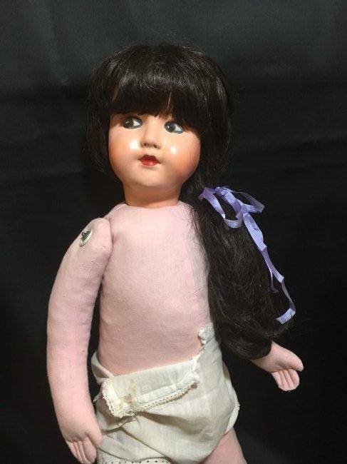 """25"""" Vintage Italian Doll w Vintage 6"""" Lenci Doll - 5"""