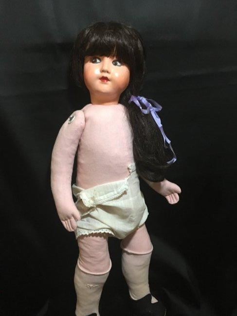 """25"""" Vintage Italian Doll w Vintage 6"""" Lenci Doll - 6"""