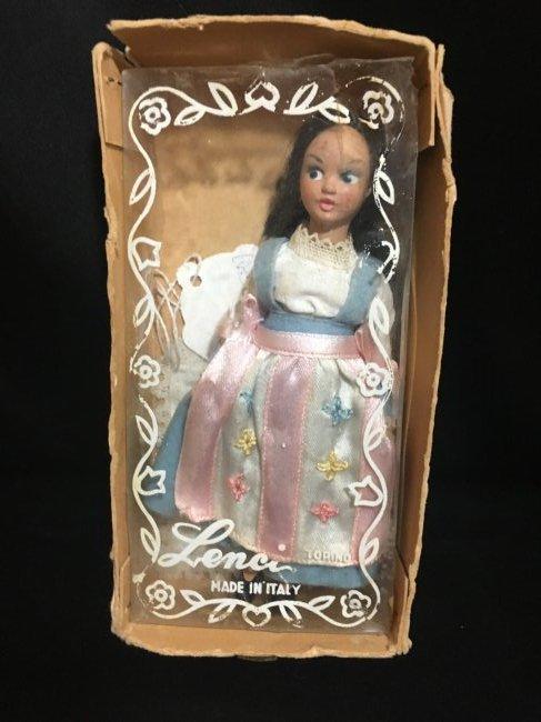 """25"""" Vintage Italian Doll w Vintage 6"""" Lenci Doll - 8"""