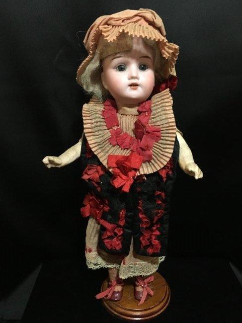 "12"" Antique Rechnagel Doll w Original Dress"