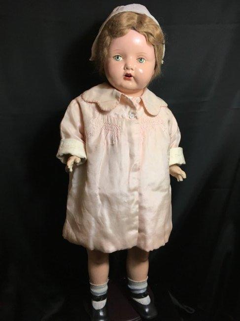 """29"""" Mama Doll circa 1920 ~ Horseman ? Effanbee?"""