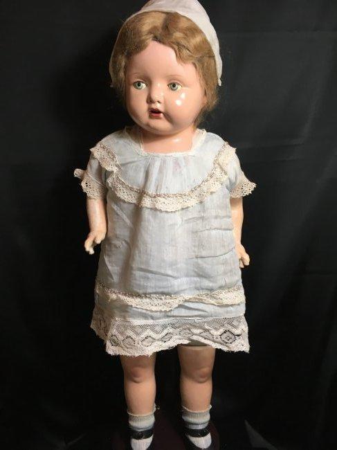 """29"""" Mama Doll circa 1920 ~ Horseman ? Effanbee? - 4"""