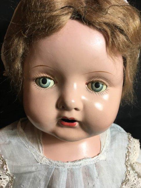 """29"""" Mama Doll circa 1920 ~ Horseman ? Effanbee? - 7"""