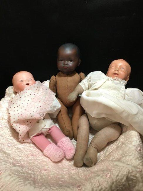 Lot of 3 German Baby Dolls