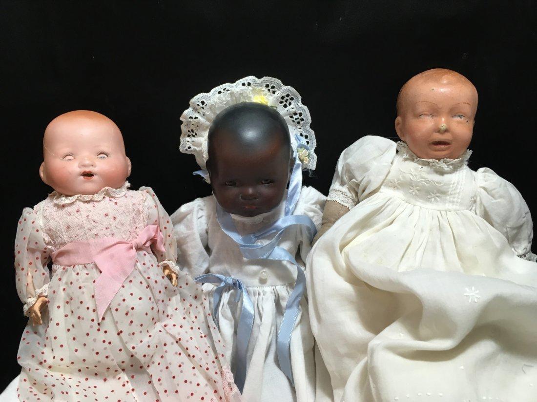 Lot of 3 German Baby Dolls - 3