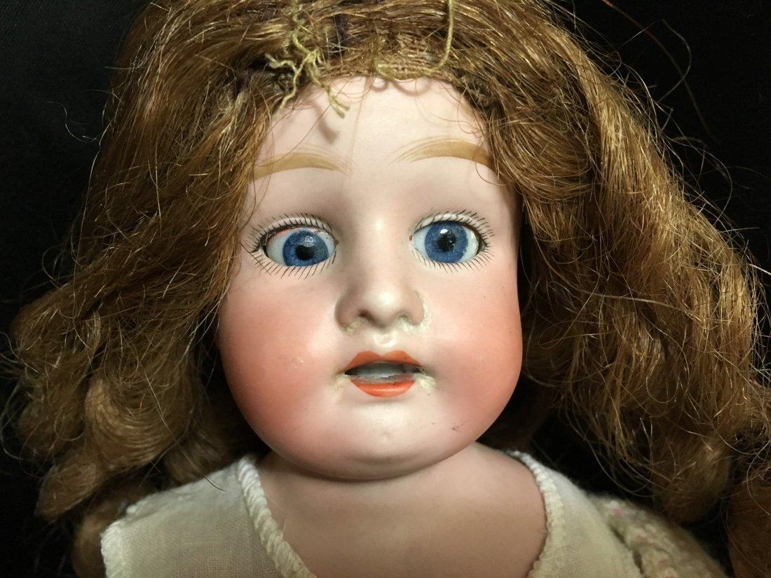Lot of 3 Antique Bisque Shoulder Head Dolls - 10