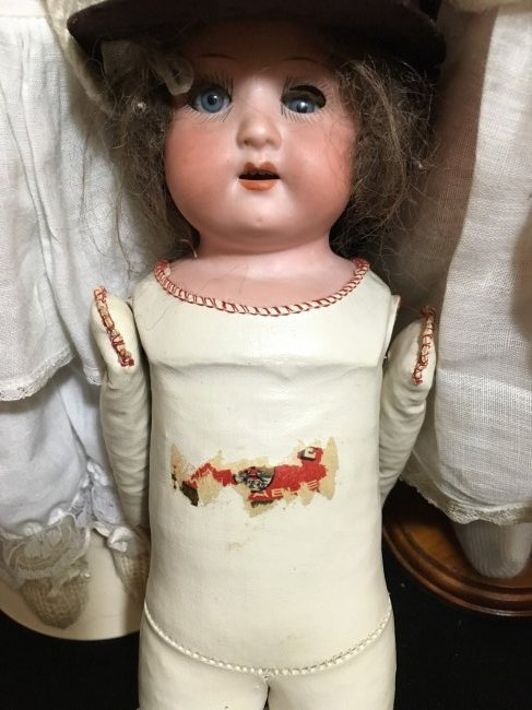 Lot of 3 Antique Bisque Shoulder Head Dolls - 5