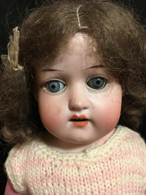 Lot of 3 Antique Bisque Shoulder Head Dolls - 7