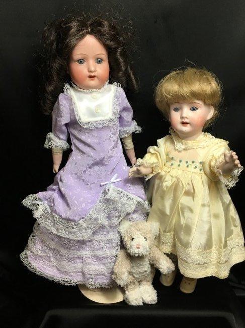 Lot of 2 German Antique/Vintage Dolls