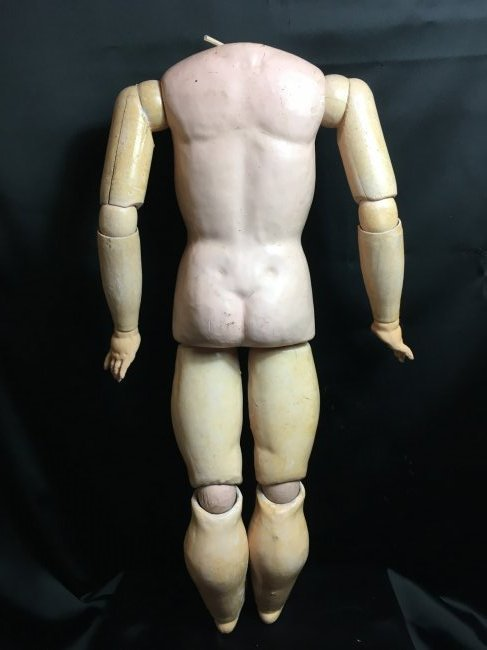 "21"" Antique Composition Doll Body - 3"