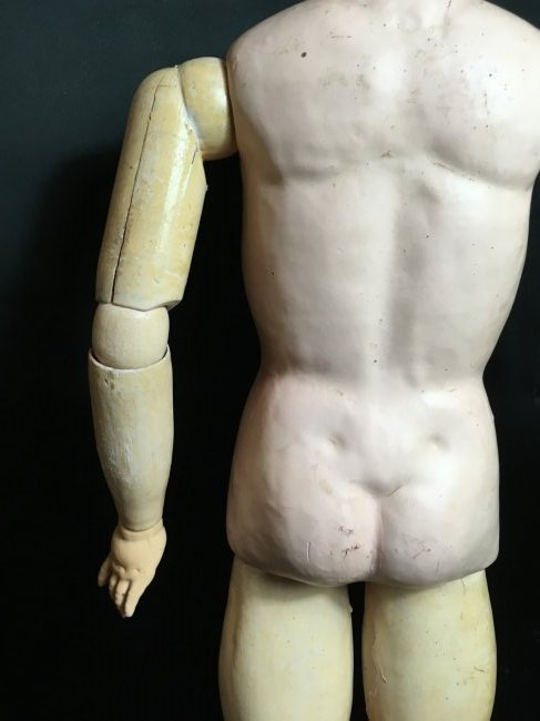 "21"" Antique Composition Doll Body - 4"