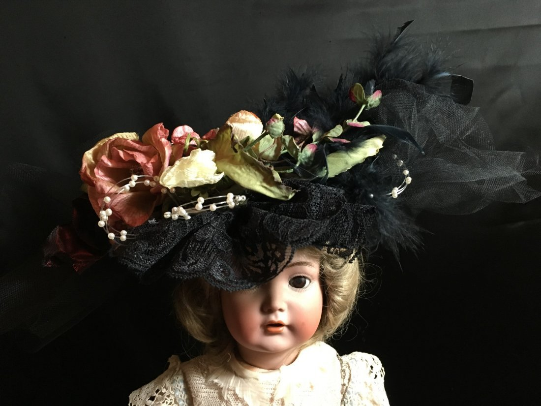 Antique Styled Elaborately Decorated Doll Hat