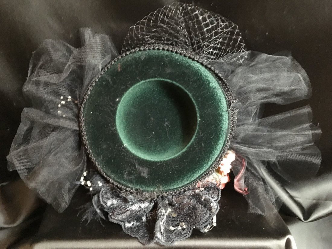 Antique Styled Elaborately Decorated Doll Hat - 3