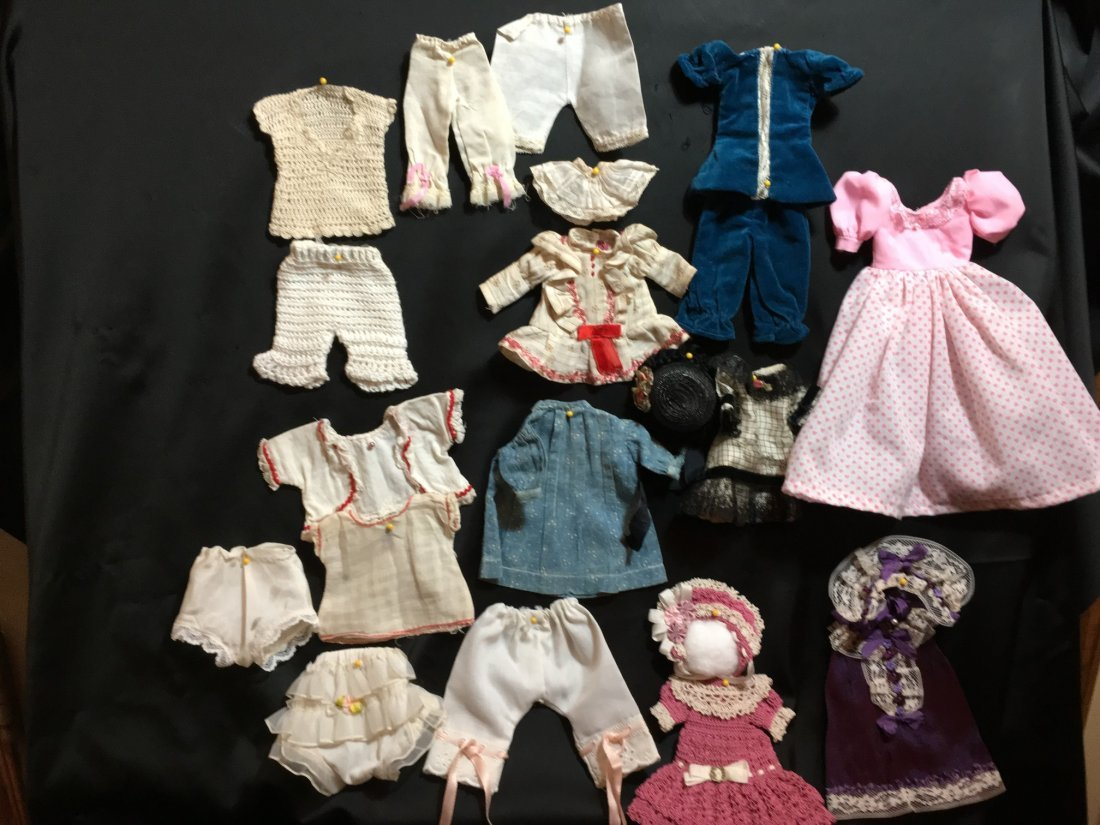Lot of Antique/Vintage Doll Clothing Small Size