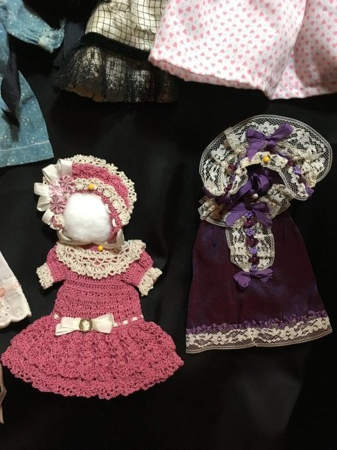 Lot of Antique/Vintage Doll Clothing Small Size - 6