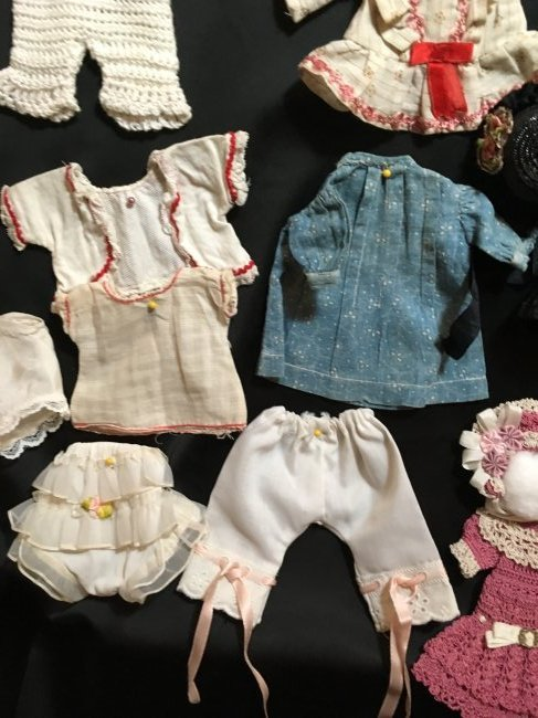 Lot of Antique/Vintage Doll Clothing Small Size - 8