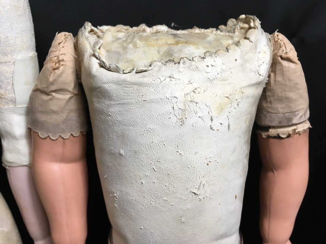 Antique Leather Bodied Doll & Leather Body - 3