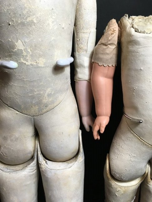 Antique Leather Bodied Doll & Leather Body - 7