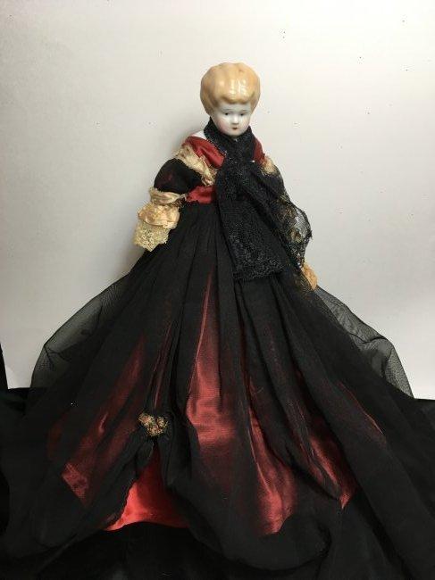 "11"" Antique Blonde China Head - 2"