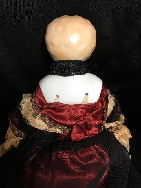 "11"" Antique Blonde China Head - 4"