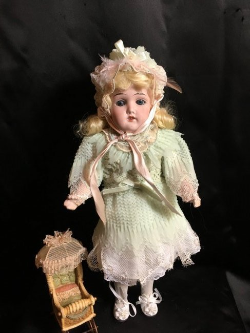 "13"" Antique Bisque Head Doll ~ Gebruder Kuhnlenz~"