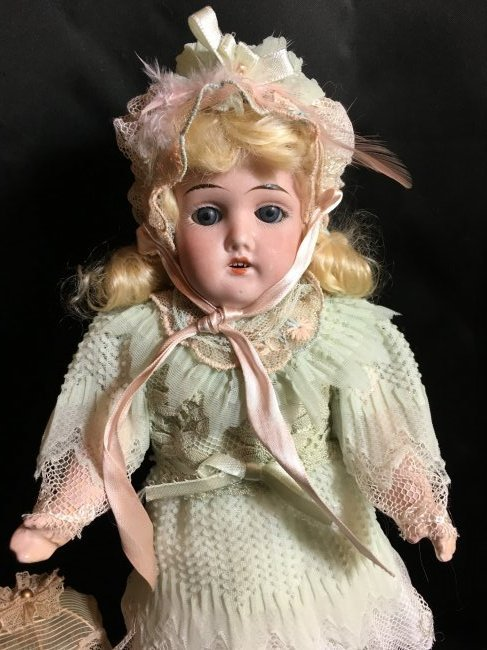 "13"" Antique Bisque Head Doll ~ Gebruder Kuhnlenz~ - 2"